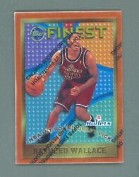 1995 96 Topps Finest #114 Rasheed Wallace RC with Coating $3.99