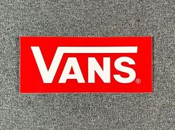 VANS Off The Wall White Red Skateboard Sticker 4.1quot; $4.95