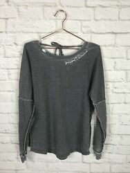 JADELYNN BROOKE Womens Gray Long Sleeve Shirt Size Small Embroidered $19.99