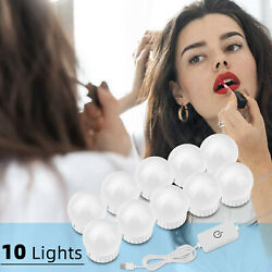10× LED Makeup Mirror Lighted Bulbs Hollywood Style Vanity Dimmable Large Lights