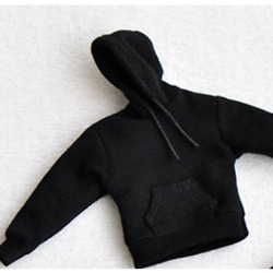 1 12 Hoodie Model Coat Black Color Tops Model Fit Action Figure Mini Toys Gift $15.19