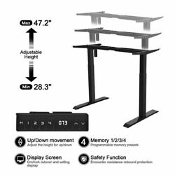 Single Motor Electric Standing Desk Frame Sit Standing Table Memory Control US $179.99