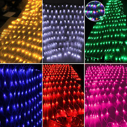 LED String Fairy Light Net Mesh Curtain Wedding Party Fun Festival Decor Outdoor