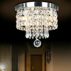 Modern Chandelier Crystal Glass LED Ceiling Light Fixture Pendant Hanging Lamp $28.00
