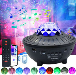 LED Galaxy Projector Starry Night Light BT Music Star Sky Ocean Wave Party Lamp $24.99