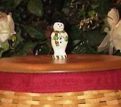 Longaberger quot;BLUSTERquot; SNOWMAN KNOB for LID Cute for Winter Christmas NEW $10.00