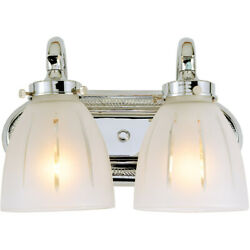 JVI Designs 714 06 Traditional Brass Bathroom Vanity Light Polished Chrome $280.00