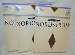 3 pair LOT NORDSTROM Size D Taupe C Top Pantyhose Stretch Sheer up to 185lb KK2 $14.88