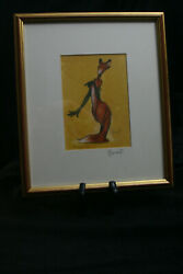 Fox Gloves Art Print by Minter Kemp Framed and Signed Fox Art $39.99