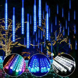 320LED Waterproof Lights Meteor Shower Rain 8 Tube Tree Outdoor Light Xmas Decor