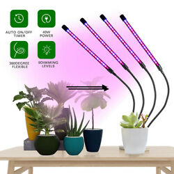 Grow Light Plant Growing LED Lamp Indoor Plants Hydroponics Timing Dimming US $25.55