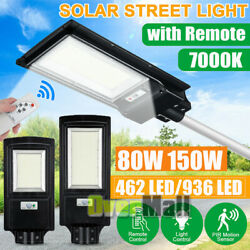 160000LM Solar LED Street Light Commercial Outdoor IP67 Area Security Road Lamp