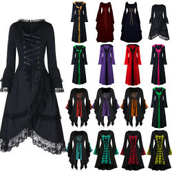 Halloween Women#x27;s Renaissance Medieval Gothic Witch Fancy Dress Cosplay Costume $24.22