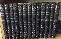 Beautiful 1908 JOHN L. STODDARD'S LECTURES Black Leather 13 Volumes ANTIQUE SET $69.00