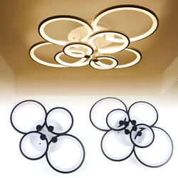 New Acrylic Modern LED Ring Lamp Chandelier Ceiling Light Home Light Fixture p