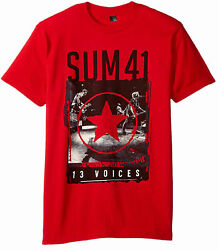 Sum 41 Red Star 13 Voices Adult T Shirt rock band Punk Pop Melodic hardcore $20.99