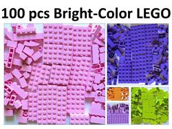 NEW 💥100 BRIGHT COLOR Lego Lot Sorted Pink Lavender Orange Purple GIRL $9.97