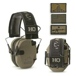 HQ ISSUE Walker#x27;s Patriot Series Electronic Ear Muffs Color: Flat Dark Earth. $46.35