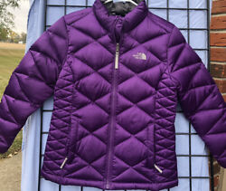 The North Face 550 Down Fill Puffer Jacket Coat Purple Girl#x27;s Size: Large $59.99