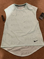 Nike Air Running Top Dri Fit Mesh Women#x27;s Size Small Teal CT6957 336 NWT Train $19.99