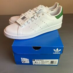 ADIDAS STAN SMITH MENS US 7.5 WHITE GREEN Authentic New In Box M20324 SUPERSTAR $53.00