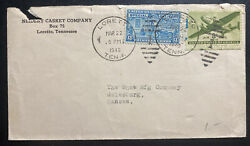 1946 Loretto TN USA Neidert Casket Co Commercial Cover To Galesburg NS