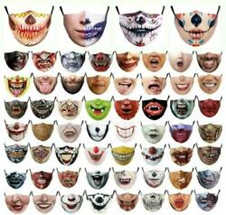Halloween Mask Face Mouth amp; Nose Protection Scary Teeth Face Mask Novelty $8.55