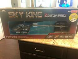 SKY KING RADIO CONTROL HELICOPTER LARGE metal body R C helicopter $49.95