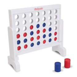 Giant Connect 4 Large Outdoor Games Yard Big Huge Four Lawn Wooden Jumbo Gam New $45.54