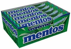 Mentos Chewy Mint Candy Roll Spearmint Non Melting Party14 Pieces Pack of 15 $17.47