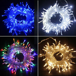 Waterproof String Fairy Lights 20 400 LED Power Battery Plug in Outdoor Wedding