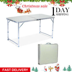 Party Camp Tables Folding Table Portable Plastic Indoor Outdoor BBQ Picnic New $28.99