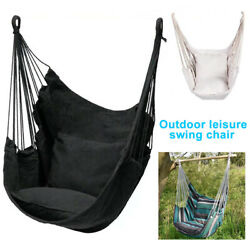 Indoor Hanging Hammock Chair Travel Camping With Cushion Outdoor Swing Bedroom $52.85