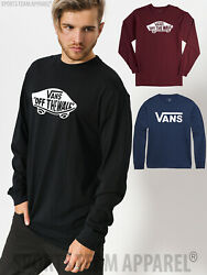 Adult VANS MENS classic logo t shirt skateboard long sleeve tee $12.95