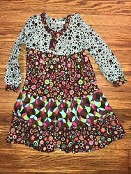 Danica And Dylan Girls Dress Size 5 Mod Long Sleeve Twirl Matilda Jane Style $15.00