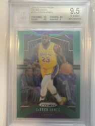 LEBRON JAMES 2019 20 PANINI PRIZM #129 GREEN PRIZMS LAKERS SP BGS 9.5 GEM MINT $189.00