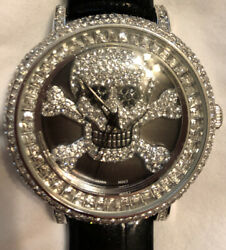 Saint James Crystal Skull Watch From Ross Simons NIB Pirate Halloween $39.99