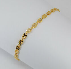 24K Solid Yellow Gold Wheat Link Bracelet 3.5 grams 6.75quot; 9999 $475.00