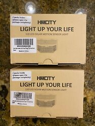 Hmcity Solar Lights Outdoor 120 LED with Lights Reflector 2 PER BOX 4 TOTAL $34.95
