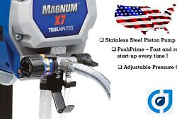 Graco X7 Magnum Electric Airless Sprayer 262805 w wty and New Hose Refurbished $285.00