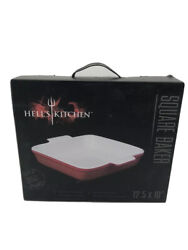 Hell#x27;s Kitchen Red Square Baking Pan 12.5 X 10quot; $15.99