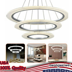 Chandelier Pendant Ceiling Lamp LED Lighting Fixture Crystal Ring Light 54W 110V $175.50