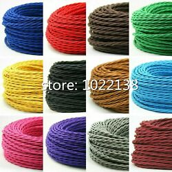 Twisted Electrical Vintage Cord Wire Braided Retro For Pendant Lights Lamp Wires $22.99