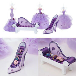 Jewelry Display Stand Novelty High Heel Ring Holder Organizer Dress Table Decor $17.30