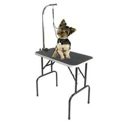 32quot; Foldable Pet Grooming Table Dog Cat Folding Table w Adjustable Arm amp; Noose $68.96