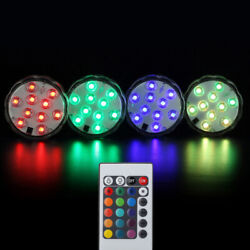 4W Color Changing Underwater With Remote Controller Diving RGB LED Aquarium Lamp $9.68