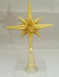 Moravian Star Tree Topper Small Gold Christmas Acrylic 6quot; Kurt Adler $19.99