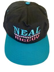 Vintage Neal McCoy Baseball Cap Black Turquoise Pink Adjustable Country Singer $39.99