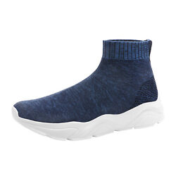 Mens Slip on Athletic High Top Sock Sneakers Breathable Trainers Casual Shoes US $15.74