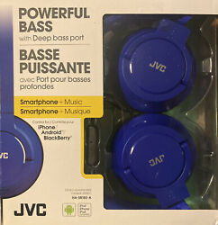 JVC Lightweight Foldable Headphones with In Line Control amp; Microphone in Blue $19.99